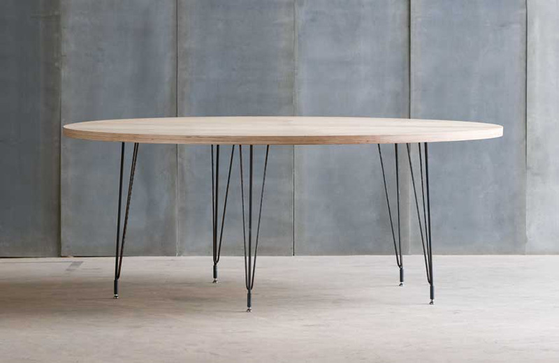 Dining table 10204 for Table bois metal rallonge